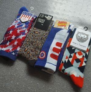 4 pairs New Mens socks lot